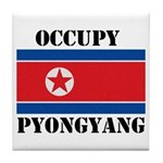 Occupy Pyongyang Tile Coaster