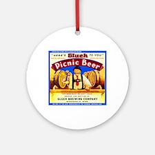 Minnesota Beer Label 4 Ornament (Round)