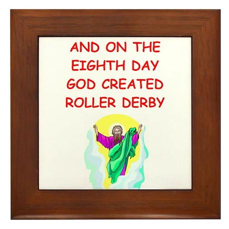 roller derby Framed Tile