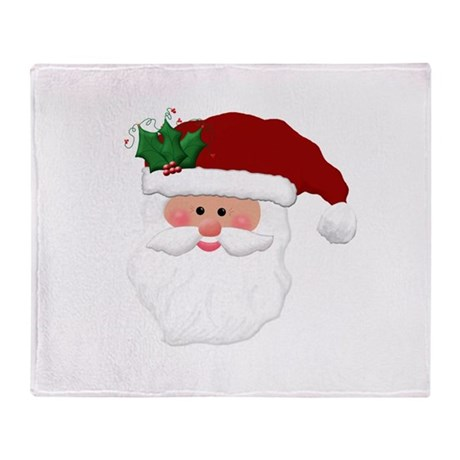 Christmas Santa Claus Face Throw Blanket