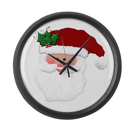 Christmas Santa Claus Face Large Wall Clock