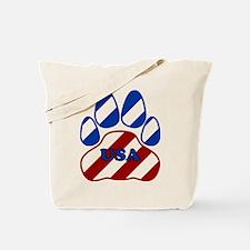 USA Paw Tote Bag