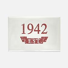 Established 1942 Rectangle Magnet