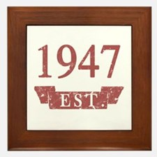 Established 1947 Framed Tile