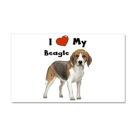 I Love My Beagle Car Magnet 20 x 12