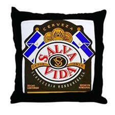Honduras Beer Label 2 Throw Pillow