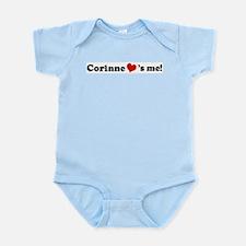 Corinne loves me Infant Creeper