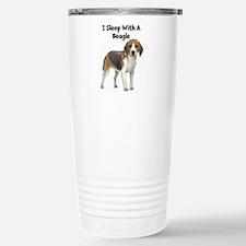 I Sleep With A Beagle Travel Mug