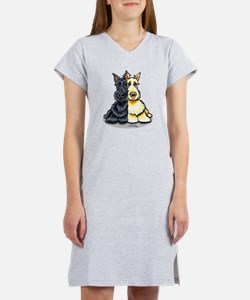 Black n Wheaten Scottie Women's Nightshirt