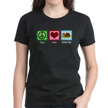 Peace Love Guinea Pigs Women's Dark T-Shirt