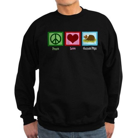 Peace Love Guinea Pigs Sweatshirt (dark)