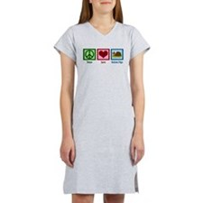 Peace Love Guinea Pigs Women's Nightshirt