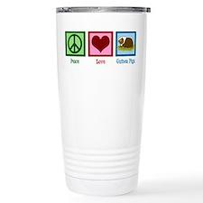 Peace Love Guinea Pigs Travel Coffee Mug