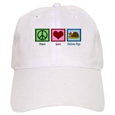 Peace Love Guinea Pigs Baseball Cap