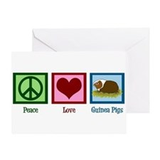 Peace Love Guinea Pigs Greeting Card