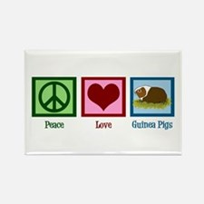 Peace Love Guinea Pigs Rectangle Magnet