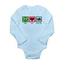 Peace Love Guinea Pigs Long Sleeve Infant Bodysuit