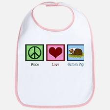 Peace Love Guinea Pigs Bib