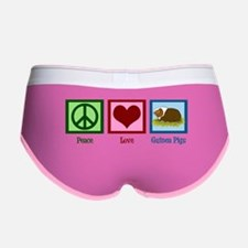 Peace Love Guinea Pigs Women's Boy Brief