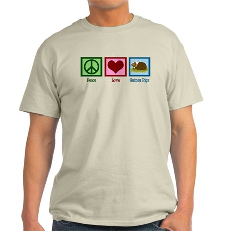 Peace Love Guinea Pigs Light T-Shirt