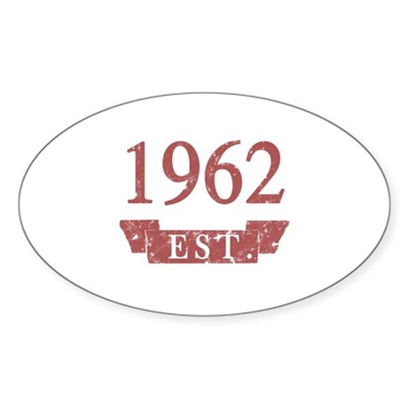 Established 1962 Sticker (Oval)