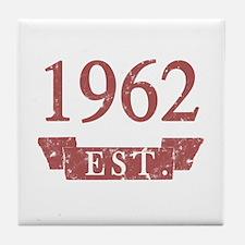 Established 1962 Tile Coaster
