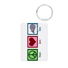 Peace Love Rats Aluminum Photo Keychain