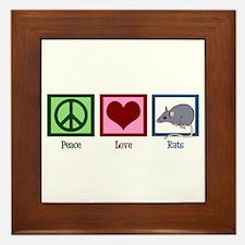 Peace Love Rats Framed Tile