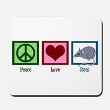 Peace Love Rats Mousepad