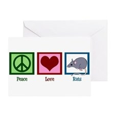 Peace Love Rats Greeting Card