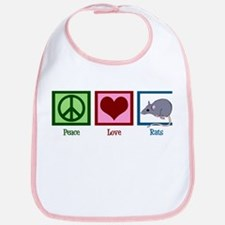 Peace Love Rats Bib