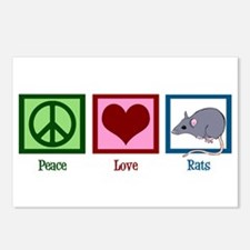 Peace Love Rats Postcards (Package of 8)