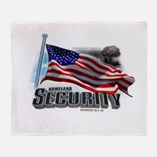 Homeland Security Throw Blanket