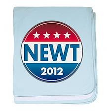 Newt for President 2012 baby blanket
