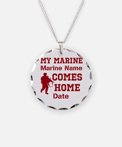 Customizable Marine Homecoming Necklace