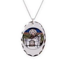 St. Veronica Stained Glass Window Necklace
