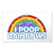 I Poop Rainbows Decal
