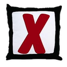 """""""X"""" Throw Pillow"""
