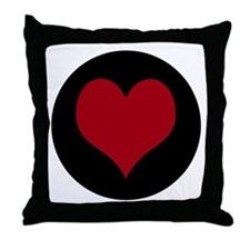 """""""O"""" with Heart Throw Pillow"""