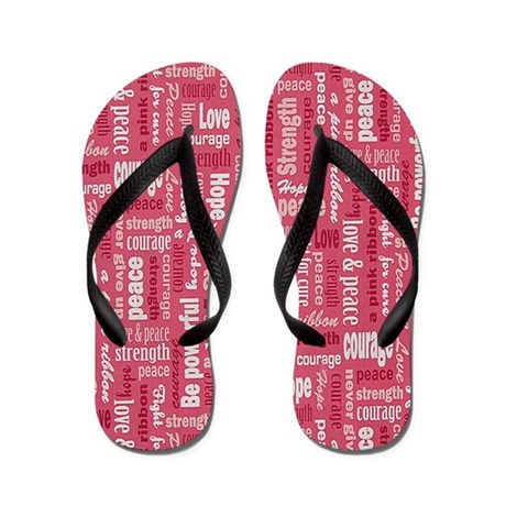 Breast Cancer Awareness Flip Flops