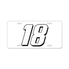 KB18wht Aluminum License Plate