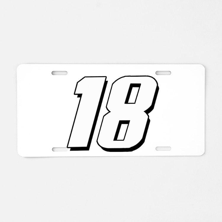 KB18wht Aluminum License Plate