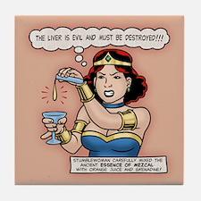 Stumblewoman - Evil Liver Tile Coaster