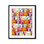 Pop Art Pit Bulls Framed Panel Print