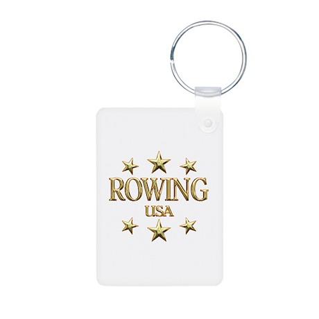 USA Rowing Aluminum Photo Keychain