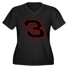 DE3blk Women's Plus Size V-Neck Dark T-Shirt