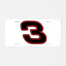 DE3blk Aluminum License Plate