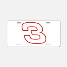DE3wht Aluminum License Plate