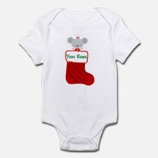 Personalized Christmas Mouse Infant Bodysuit