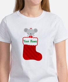 Personalized Christmas Mouse Tee